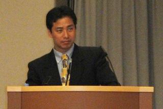 第82回生化学会大会で受賞講演をする平田普三准教授